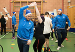 St Johnstone players took some festive cheer to Fairview School in Perth gving out selection boxes and gifts to the pupils&hellip;Paul Paton dancing with secondary school pupil Holly<br />Picture by Graeme Hart.<br />Copyright Perthshire Picture Agency<br />Tel: 01738 623350  Mobile: 07990 594431