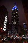 View of EmpireState Building in Blue