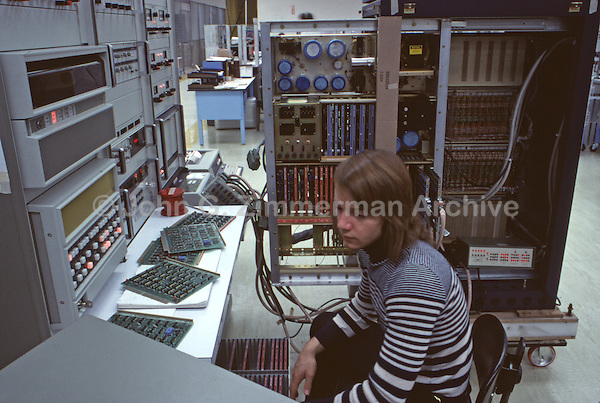 Northern Telecom Inc. Palo Alto, California, 1974. The first digital telephone systems. Photo by John G. Zimmerman.
