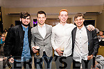 Jack O'Hara, John Horgan, Laurence Bastille and Domnick Horgan pictured at the John Mitchel's Strictly Come Dancing at the Ballygarry House Hotel on Sunday night.