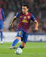 FUSSBALL  CHAMPIONS LEAGUE  VIERTELFINAL RUECKSPIEL   2011/2012      FC Barcelona - AC Mailand           03.04.2012 Xavi Hernandez (Barca)