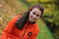 SCHAATSEN: YSBRECHTUM, 23-10-2015, Team4Gold perspresentatie, Antoinette de Jong, ©foto Martin de Jong