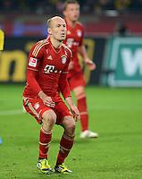 FUSSBALL   1. BUNDESLIGA   SAISON 2011/2012   30. SPIELTAG Borussia Dortmund - FC Bayern Muenchen            11.04.2012 Arjen Robben (FC Bayern Muenchen) nach dem Elfmeter enttaeuscht