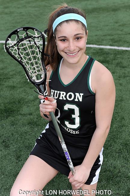 Huron High School girl's varsity lacrosse team.