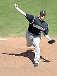 15 June 2006: Jason Jennings, pitcher for the Colorado Rockies, on the mound for a win against the Washington Nationals at RFK Stadium, in Washington, DC. The Rockies defeated the Nationals, 8-1 to sweep the four-game series...Mandatory Photo Credit: Ed Wolfstein Photo...
