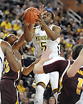 The University of Michigan men's basketball team beat Central Michigan University, 88-73, at Crisler Center in Ann Arbor, Mich., on December 29, 2012.