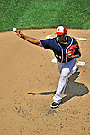 30 May 2011: Washington Nationals pitcher Livan Hernandez in action against the Philadelphia Phillies at Nationals Park in Washington, District of Columbia. The Phillies defeated the Nationals 5-4 to take the first game of their 3-game series. Mandatory Credit: Ed Wolfstein Photo
