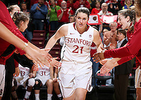 STANFORD, CA - January 25, 2013: Stanford Cardinal's Sara James before Stanford's 65-44 victory over the Utah at Maples Pavilion in Stanford, California.