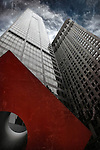 Isamu Noguchi's Red Cube in Lower Manhattan was installed in 1968.