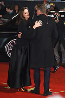 LONDON, UK. November 21, 2016: Brad Pitt &amp; Marion Cotillard at the &quot;Allied&quot; UK premiere at the Odeon Leicester Square, London.<br /> Picture: Steve Vas/Featureflash/SilverHub 0208 004 5359/ 07711 972644 Editors@silverhubmedia.com