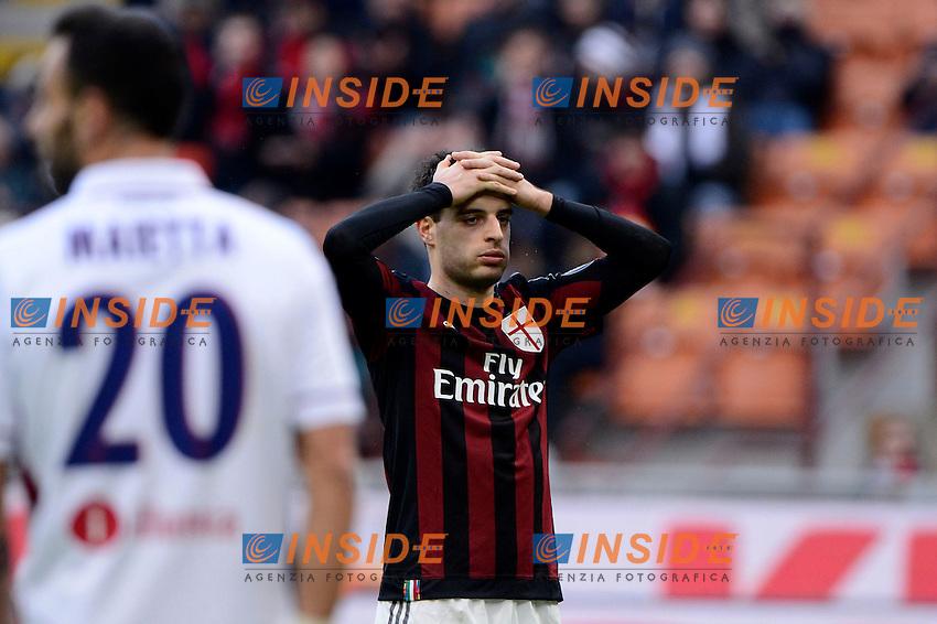 Delusione Giacomo Bonaventura Milan<br /> Milano 6-01-2016 Stadio Giuseppe Meazza - Football Calcio Serie A Milan - Bologna. Foto Giuseppe Celeste / Insidefoto