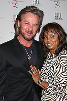 LOS ANGELES - MAR 16:  Stephen Nichols, Debbi Morgan arrives at the Young & Restless 39th Anniversary Party hosted by the Bell Family at the Palihouse on March 16, 2012 in West Hollywood, CA