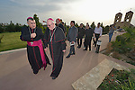 Bishop William Murphy of Rockville Centre (center) walks with Archbishop Bashar Matti Warda at St. Peter's Seminary in Ankawa, Iraq, on April 9, 2016. Murphy and Cardinal Timothy Dolan, both board members of the Catholic Near East Welfare Association, are in Iraqi Kurdistan to visit with Christians and others displaced by ISIS. Warda heads the Chaldean Catholic Archdiocese of Erbil, and has been a staunch champion for the displaced Christians and others living in his archdiocese.