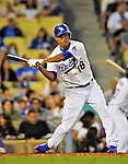 22 July 2011: Los Angeles Dodgers pitcher Hiroki Kuroda in action against the Washington Nationals at Dodger Stadium in Los Angeles, California. The Nationals defeated the Dodgers 7-2 in their first meeting of the 2011 season. Mandatory Credit: Ed Wolfstein Photo