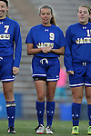 14 November 2014: South Dakota State's Ashley Adams (CAN). The University of North Carolina Tar Heels hosted the South Dakota State University Jackrabbits at Fetzer Field in Chapel Hill, NC in a 2014 NCAA Division I Women's Soccer Tournament First Round match. UNC won the game 2-0.