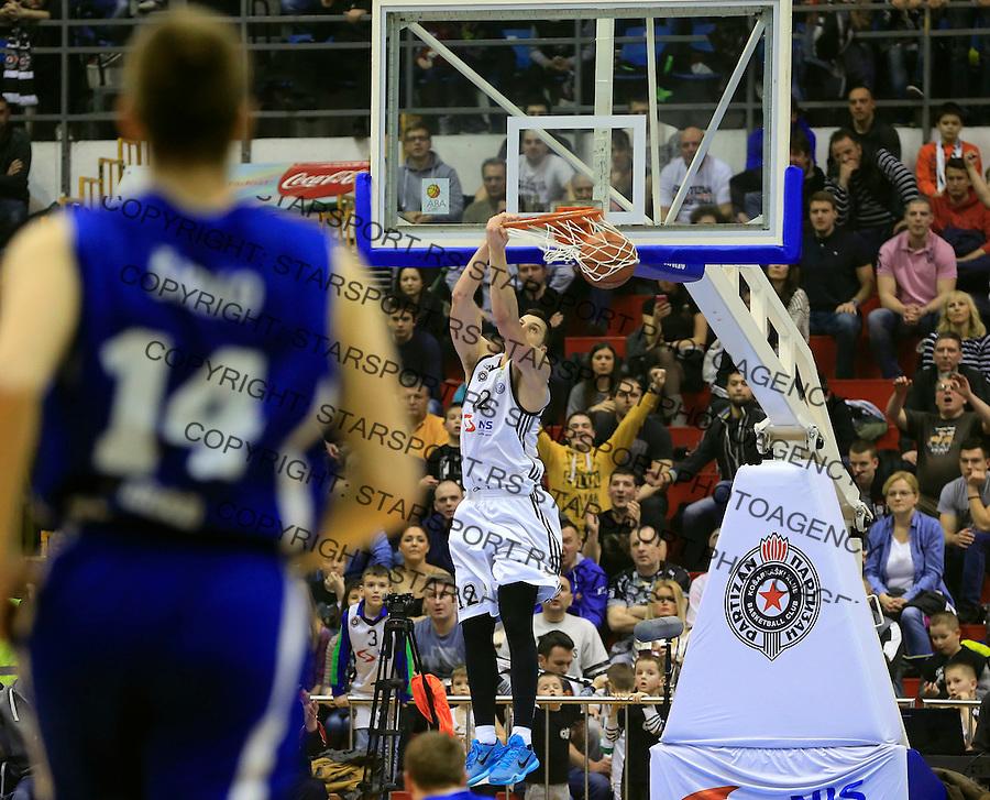 Kosarka ABA League season 2014-2015<br /> Partizan v Zadar<br /> Dragan Milosavljevic<br /> Beograd, 15.03.2015.<br /> foto: Srdjan Stevanovic/Starsportphoto&copy;