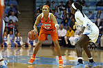 03 January 2016: Clemson's Alexis Carter (33). The University of North Carolina Tar Heels hosted the Clemson University Tigers at Carmichael Arena in Chapel Hill, North Carolina in a 2015-16 NCAA Division I Women's Basketball game. UNC won the game 72-56.
