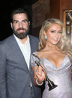 HOLLYWOOD, CA - FEBRUARY 19: ***EXCLUSIVE***  Zachary Quinto and Paris Hilton  inside at 3rd Annual Hollywood Beauty Awards at Avalon Hollywood In California on February 19, 2017. Credit: Faye Sadou/MediaPunch