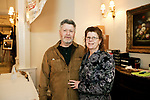 Southington, CT- 24 March 2017-030717CM10- From left, Gary and Christiana Olmsted with Sportsmen's Outpost of Wolcott are photographed during the 25th annual Nutmeg Friends of the NRA dinner at the Aqua Turf in Southington on Friday.     Christopher Massa Republican-American