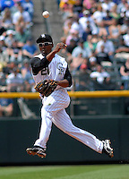 04 May 2008: Colorado Rockies 2nd baseman Jonathan Herrera makes a play against the Los Angeles Dodgers on May 4, 2008 at Coors Field in Denver, Colorado. The Rockies defeated the Dodgers 7-2. FOR EDITORIAL USE ONLY. FOR EDITORIAL USE ONLY