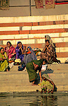 Asia, India, Varanasi. Women of Varanasi.