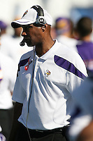 09/11/11 San Diego, CA: Minnesota Vikings head coach Leslie Frazier during an NFL game played at Qualcomm Stadium between the San Diego Chargers and the Minnesota Vikings. The Chargers defeated the Vikings 24-17.