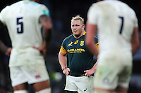 Vincent Koch of South Africa looks on during a break in play. Old Mutual Wealth Series International match between England and South Africa on November 12, 2016 at Twickenham Stadium in London, England. Photo by: Patrick Khachfe / Onside Images
