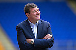 St Johnstone v Falkirk&hellip;23.07.16  McDiarmid Park, Perth. Betfred Cup<br />A smile on the face of saints boss Tommy Wright<br />Picture by Graeme Hart.<br />Copyright Perthshire Picture Agency<br />Tel: 01738 623350  Mobile: 07990 594431