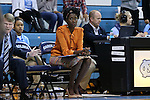 13 November 2015: UNC assistant coach Sylvia Crawley. The University of North Carolina Tar Heels hosted the Gardner-Webb University Runnin' Bulldogs at Carmichael Arena in Chapel Hill, North Carolina in a 2015-16 NCAA Division I Women's Basketball game. Gardner-Webb won the game 66-65.
