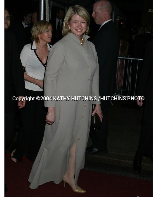 ©2004 KATHY HUTCHINS /HUTCHINS PHOTO.DAYTIME EMMYS.NEW YORK CITY, NY.MAY 21, 2004..MARTHA STEWART