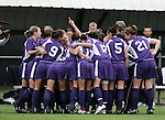 2 December 2005: Portland players huddle before the start of the game. The University of Portland Pilots defeated the Penn State Nittany Lions 4-3 on penalty kicks after the teams played to a 0-0 overtime tie in their NCAA Division I Women's College Cup semifinal at Aggie Soccer Stadium in College Station, TX.