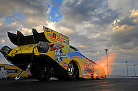 Jan. 18, 2012; Jupiter, FL, USA: NHRA funny car driver Jim Head during testing at the PRO Winter Warmup at Palm Beach International Raceway. Mandatory Credit: Mark J. Rebilas-