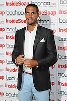 Rio Ferdinand arriving for the Inside Soap Awards Launch Party at Rosso Restaurant, Manchester. 09/07/2012 Picture by: Steve Vas / Featureflash
