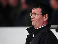 Blackpool manager Gary Bowyer <br /> <br /> Photographer Kevin Barnes/CameraSport<br /> <br /> The EFL Sky Bet League Two - Saturday 18th March 2017 - Newport County v Blackpool - Rodney Parade - Newport<br /> <br /> World Copyright &copy; 2017 CameraSport. All rights reserved. 43 Linden Ave. Countesthorpe. Leicester. England. LE8 5PG - Tel: +44 (0) 116 277 4147 - admin@camerasport.com - www.camerasport.com