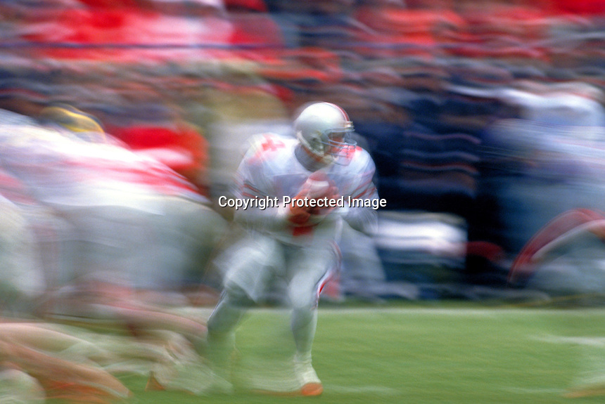 Ohio State quarterback, Ann Arbor, MI.Photo by Chris Covatta