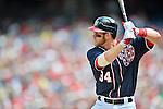 3 September 2012: Washington Nationals rookie outfielder Bryce Harper steps up to the plate against the Chicago Cubs at Nationals Park in Washington, DC. The Nationals edged out the visiting Cubs 2-1, in the first game of heir 4-game series. Mandatory Credit: Ed Wolfstein Photo