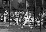 American Legion Baseball:  Bethel Park vs Arnold to advance to the state American Legion Playoffs.  Mike Stewart swinging and missing during the game with Jack Snyder on deck.  Bob Purkey pitched a shut out (1-0) and the team advance to the state playoffs in Allentown PA - 1970.  Gary Biro on deck. Others in the photo; Mr and Mrs Bob Purkey Sr, Mike Stewart, Paul Hauck, Skip Uhl, and Craig Balmford.