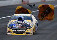 Nov 15, 2015; Pomona, CA, USA; NHRA pro stock driver Allen Johnson during the Auto Club Finals at Auto Club Raceway at Pomona. Mandatory Credit: Mark J. Rebilas-USA TODAY Sports