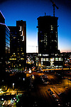 The Austonian and downtown Austin at Sunset, Austin Texas, February 28, 2009.  The Austonian is a residential skyscraper currently under construction in Austin. Upon completion in 2009, the building will be the tallest in Austin at 683 feet tall with 56 floors.