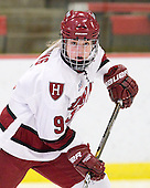 Jackie Young (Harvard - 9) - The Harvard University Crimson defeated the St. Lawrence University Saints 8-3 (EN) to win their ECAC Quarterfinals on Saturday, February 26, 2011, at Bright Hockey Center in Cambridge, Massachusetts.