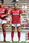 24 August 2014: Stanford's Laura Liedle. The Duke University Blue Devils played the Stanford University Cardinal at Fetzer Field in Chapel Hill, NC in a 2014 NCAA Division I Women's Soccer match. Stanford won the game 2-0.