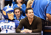 Former Duke player J.J. Redick judges the dunk contest. Redick holds the all-time scoring record for Duke. Photo by Al Drago...