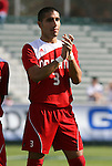 15 November 2009: NC State's Romulo Manzano. The University of Virginia Cavaliers defeated the North Carolina State University Wolfpack at WakeMed Stadium in Cary, North Carolina in the Atlantic Coast Conference Men's Soccer Tournament Championship game.