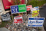 Yard signs populate the streets and lawns of Los Altos.  Only the vote will show whether visibility impacted how people voted.