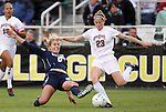 03 December 2010: Ohio State's Lauren Steuer (23) and Notre Dame's Lauren Fowlkes (9). The Notre Dame Fighting Irish defeated the Ohio State University Buckeyes 1-0 at WakeMed Stadium in Cary, North Carolina in an NCAA Women's College Cup semifinal game.