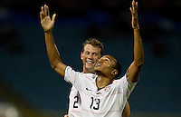 Ricardo Clark celebrates his winning goal, USA 1-0 over Trinidad at Hasely Crawford Stadium, Port of Spain, Trinidad, Wednesday, Sept. 9, 2009. ..   .