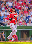 19 September 2015: Washington Nationals outfielder Bryce Harper in action during a game against the Miami Marlins at Nationals Park in Washington, DC. The Nationals defeated the Marlins 5-2 in the third game of their 4-game series. Mandatory Credit: Ed Wolfstein Photo *** RAW (NEF) Image File Available ***