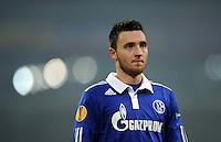 FUSSBALL   EUROPA LEAGUE   SAISON 2011/2012  SECHZEHNTELFINALE FC Schalke 04 - FC Viktoria Pilsen                          23.02.2012 Marco Hoeger (FC Schalke 04)