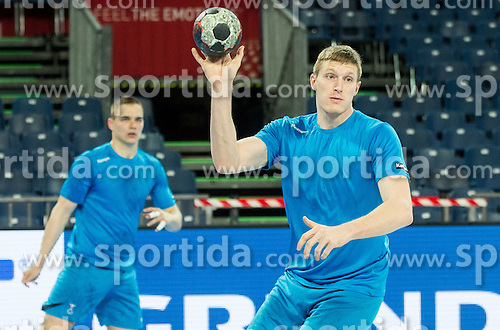 Blaz Blagotinsek of Slovenia during practice session of Team Slovenia on Day 1 of Men's EHF EURO 2016, on January 15, 2016 in Centennial Hall, Wroclaw, Poland. Photo by Vid Ponikvar / Sportida