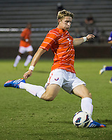 The number 24 ranked Furman Paladins took on the number 20 ranked Clemson Tigers in an inter-conference game at Clemson's Riggs Field.  Furman defeated Clemson 2-1.  Alex Stockinger (7)